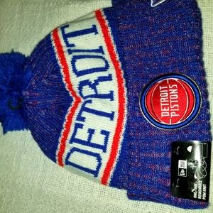 BRAND NEW WITH TAGS New Era Detroit Pistons beanie